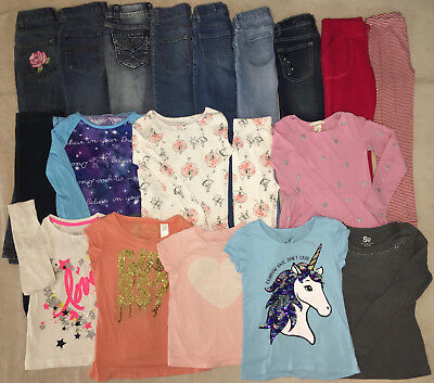 19 Piece Lot Girls Clothing Size 7/8 & 8