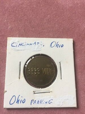 cincinnati Oh 3333 Vine Parking Token