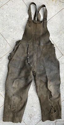 Vintage RARE Leather Welding Overalls