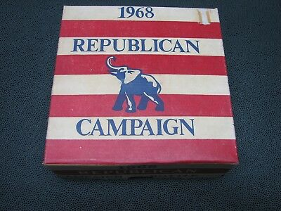 Vintage 1968 NIXON REPUBLICAN Campaign ~ Wheaton AMBER GLASS ELEPHANT BOTTLE
