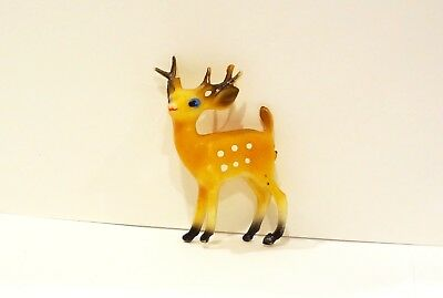 Vintage 1960's 1970's Plastic Toy Animal Miniature DEER FIGURE Figurine 60s 70s