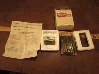 NOS Vintage door bell Nutone Marconi Wireless Chime LA99T pushbutton transmitter