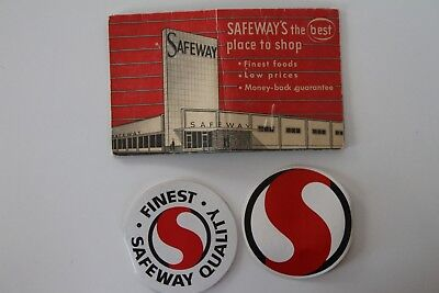 Lot of 3 Different Vintage Safeway Grocery Store Advertising Needle Book Packets