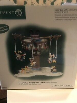 Department 56 Swinging Disney Fab Five 56866, North Pole, RARE!, READ
