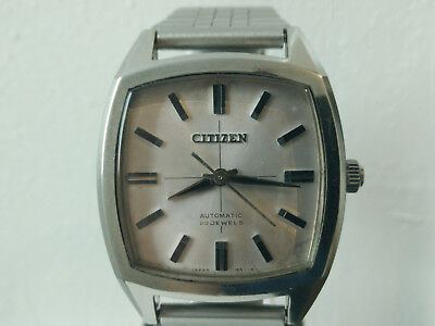Rare Vintage Citizen Square AUOS 2802-Y Parawater Automatic 23J Mens Watch 1960'