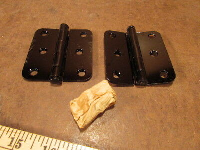 NOS Screen porch Door Hinges by Stanley BLACK sold by the pair Vintage