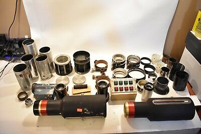 Nice Huge Lot Of Antique Cinema & Movie projector Lenses Snaplite B&L ProJex AOC