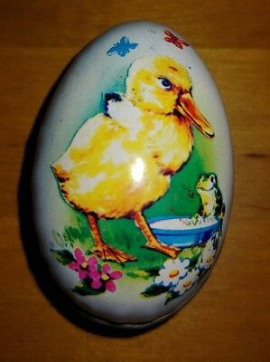 Vintage Tin Easter Egg Candy Container Hong Kong Holiday Display