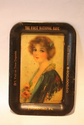 RARE Vintage First National Bank Tip Tray