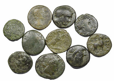 Group of 10 Ancient Greek Bronze Coins (05)