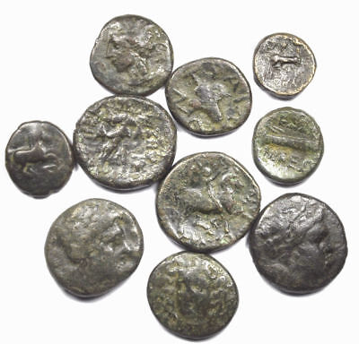 Group of 10 Ancient Greek Bronze Coins (10)