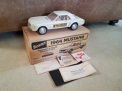 1964 Cream color Mustang decanter by Jim Beam - FULL, NOT OPENED