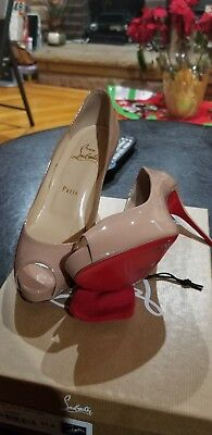 reputable site ff52c 090f6 CHRISTIAN LOUBOUTIN NEW Very Prive 100 Patent 37.5