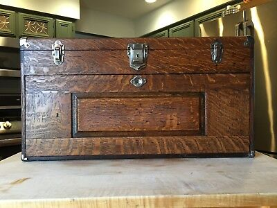 Vintage H. Gerstner And Sons Machinist Pattern Maker Tool Box Chest 26 Wide NICE