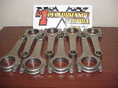 "Set of 8 Carrillo 6.00"" H Beam Connecting Rods with Bolts & Force Feed Oiling"