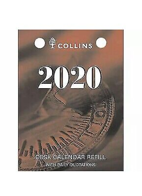 2019 Collins Debden Desk Calendar Refill Top Punch 1 Day to Page DCRT-19