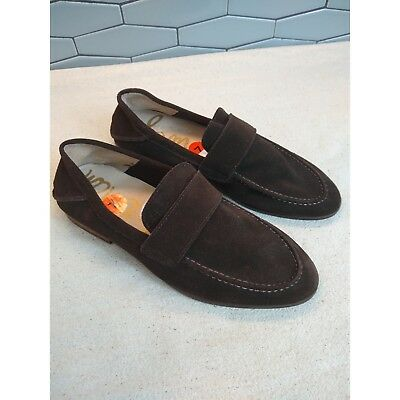 4dd952988b55 Sam Edelman Ethan Brown Leather Soft Suede Loafers Size 7M