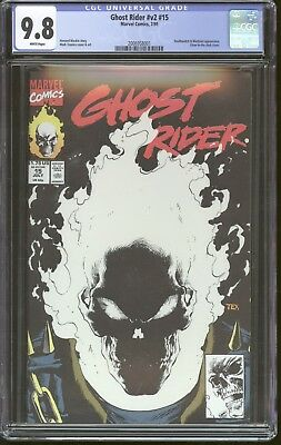 Ghost Rider v2 # 15 CGC 9.8 Marvel Comics Glow in the Dark Cover