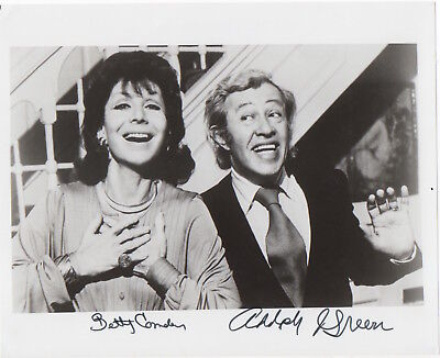 Betty Comden & Adolph Green, musical comedy team, 8x10 photo signed