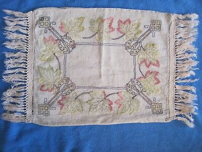Vintage Antique Mission Arts & Crafts Embroidered Linen Pillow Case As-Is