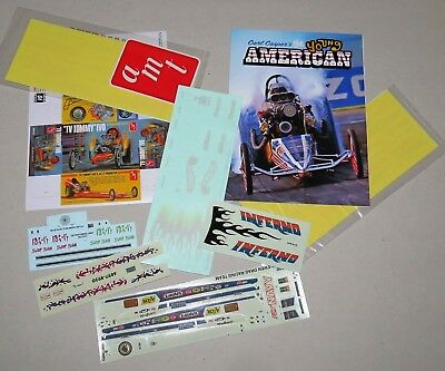 Lot of Drag Model Kit Decals: Tommy Ivo, Tom McEwen, Young American and more!