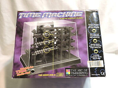 Can You Imagine Time Machine Kinetic Rolling Metal Ball Clock -Parts Restoration