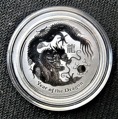 2012 P Australia 1/2 Oz Silver Lunar Year of the Dragon - BU