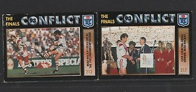 N.R.L Collector Cards 2 x Brad Mackay Card No. 212 & 217   See photo
