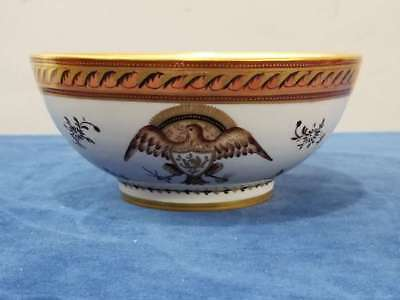 Antique Chinese Export Style Armorial Footed Bowl W/eagle, Samson Et Cie