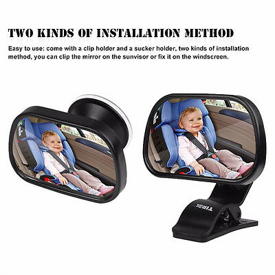 2 in 1 SAFETY MIRROR Car Baby Child Seat Inside View Back Rear View Facing Ward