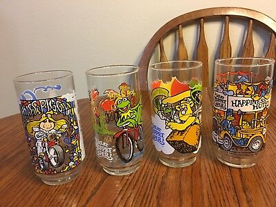 Vintage 1981McDonald's The Great Muppet Caper Glasses(COMPLETE SET OF 4)