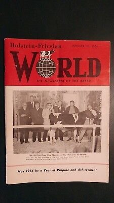 "Holstein World 1964 ""gray-View Skycross"" To Curtiss + International Dairy Show +"