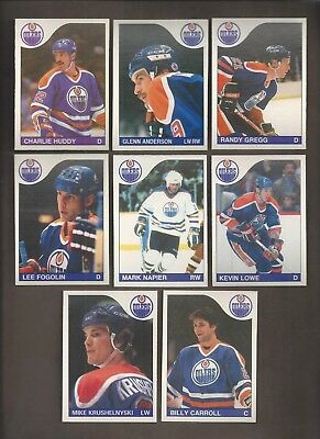 1985-86💎OPC Edmonton OILERS Team Lot (8)  💎O Pee Chee NM-MT Hockey Cards