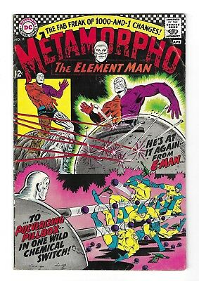 METAMORPHO The Element Man #11 SILVER AGE DC NATIONAL COMIC BOOK CIRCA 1967 L@@K