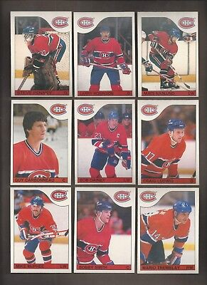 1985-86💎OPC Montreal CANADIENS Team Lot (11) 💎O Pee Chee NM-MT Hockey Cards