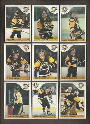 1985-86💎OPC PENGUINS Team Set(10)Lemeiux Reprint💎O Pee Chee NM-MT Hockey Card