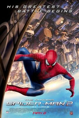 "Marvel THE AMAZING SPIDER-MAN 2 2014 Original DS 2 Sided 27x40"" US Movie Poster"