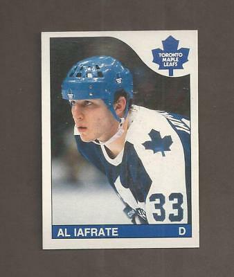 1985-86💎OPC Al Iafrate RC Rookie MAPLE LEAFS💎O Pee Chee NM-MT Hockey Cards