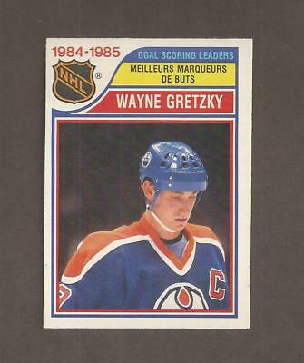 1985-86💎OPC Wayne Gretzky OILERS Scoring LEADER 💎O Pee Chee NM-MT Hockey Cards