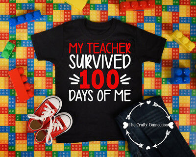 Youth Unisex T-Shirt - My Teacher Survived 100 Days of Me - School Student IMG1