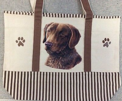 ES Imports Chesapeake Bay Retriever Dog Tote Bag 100% Cotton NEW