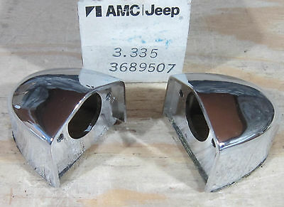 1977 1978 1979 1980 AMC Pacer Wagon NOS L&R license plate light housing