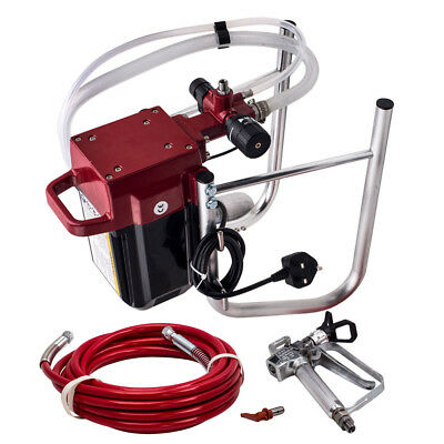High Pressure AIRLESS INTERIOR WALL PAINT SPRAYER GUN KIT MACHINE 230v 50Hz