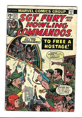 SGT. FURY and His Howling Commandos no.123 131 133 MARVEL COMIC BOOK LOT 1974-76