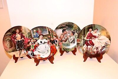 1985 THE KING & I Collector Plates COMPLETE SET of 4 Yul Brynner~Julie Andrews