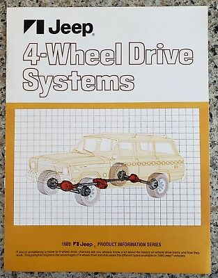 1980 Jeep 4-Wheel Drive Systems Product Information Series Brochure