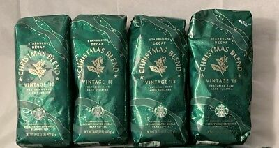 4 Pounds Decaf Whole Bean Starbucks Christmas Blend Vintage 2018 Sumatra Coffee
