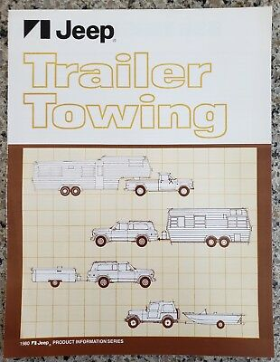 1980 Jeep Trailer Towing Product Information Series Brochure
