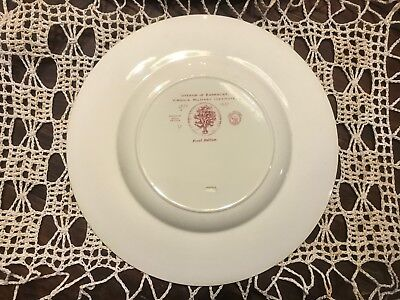 Three VMI Wedgewood Dinner Plates