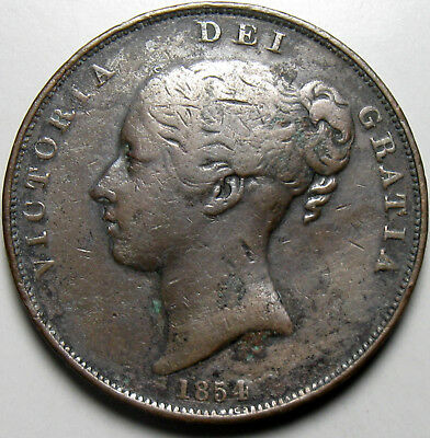 1854 Great Britain Penny